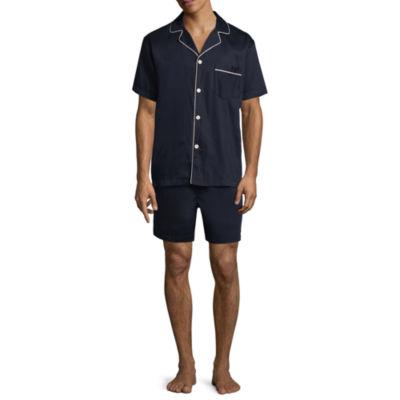 Stafford Sateen Short Sleeve/Short Leg Pajama Set - Big and Tall