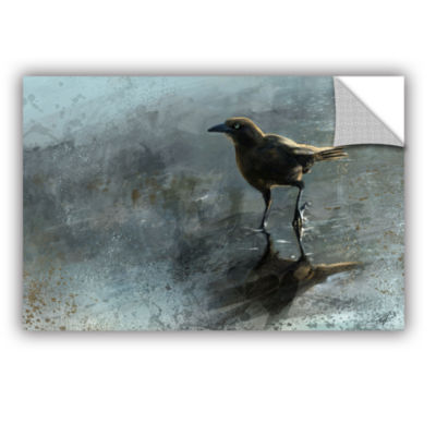 Brushstone Bird in a Puddle Removable Wall Decal