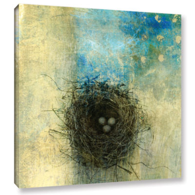 Brushstone Bird Nest Gallery Wrapped Canvas Wall Art