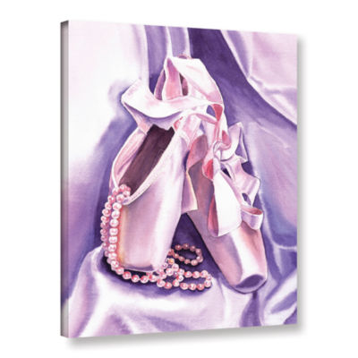 Brushstone Ballet Shoes Dancing Pearls Gallery Wrapped Canvas Wall Art