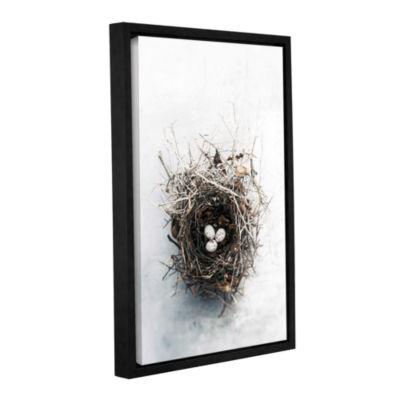 Brushstone Bird Nest Gallery Wrapped Floater-Framed Canvas Wall Art - Speckled Eggs