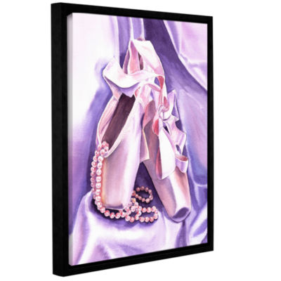 Brushstone Ballet Shoes Dancing Pearls Gallery Wrapped Floater-Framed Canvas Wall Art