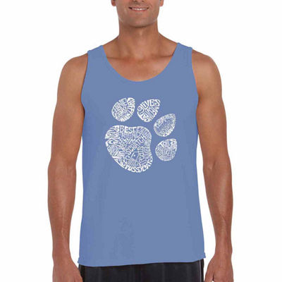 Los Angeles Pop Art Catpaw Tank Top Big and Tall