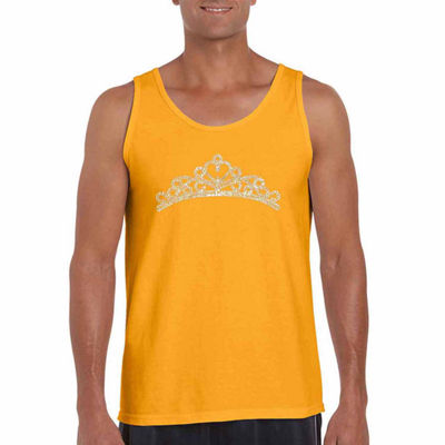 Los Angeles Pop Art Princess Tiara Tank Top Big and Tall