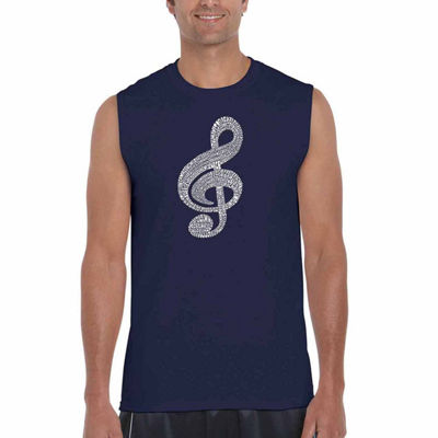 Los Angeles Pop Art Music Note Mens Tank Top Big and Tall