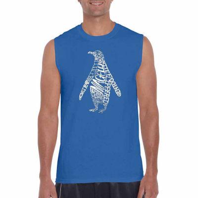 Los Angeles Pop Art Penguin Sleeveless Word Art T Shirt