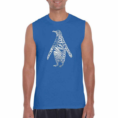 Los Angeles Pop Art Penguin Mens Tank Top Big and Tall
