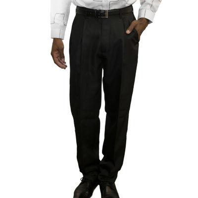 Steve Harvey Back Slip Pocket Classic Fit Pleated Pants