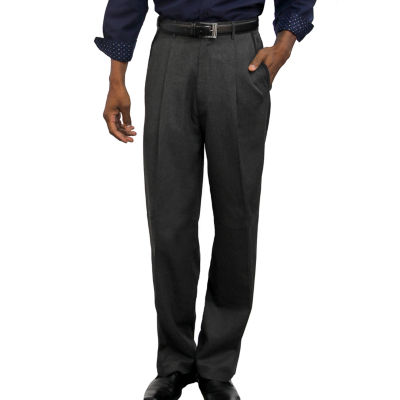 Steve Harvey Back Slip Pocket Classic Fit Flat Front Pants