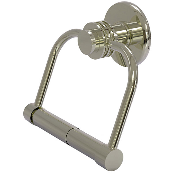 Allied Brass Mercury Collection 2 Post Toilet Tissue Holder with Dotted Accents