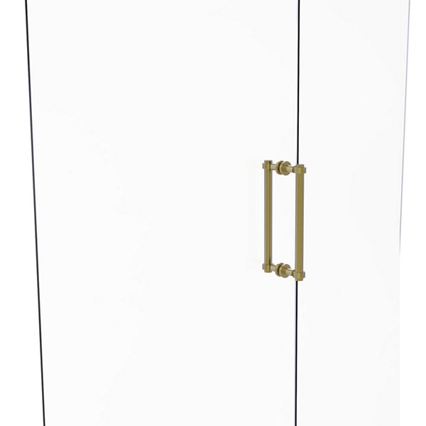 Allied Brass Contemporary 12 IN Back To Back Shower Door Pull With Grooved Accent