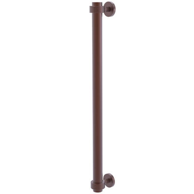Allied Brass 18 in. Refrigerator Pull With Groovy Accents