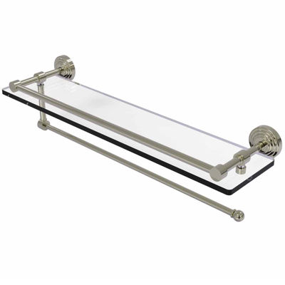 Allied Brass Wavwely Place Collection Paper TowelHolder With 22 IN Gallery Glass Shelf