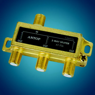 Antop AT-706 3-Way 2GHz Low-Loss Coaxial Splitter