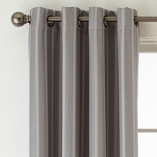 Linden Street Elmsford Room Darkening Grommet-Top Curtain Panel