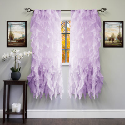 Chic Sheer Voile Vertical Ruffled Tier Window Treatment Collection