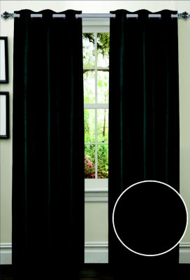 Dot Pattern Energy Saving Lined Grommet Room Darkening Window Panel 2 Pack