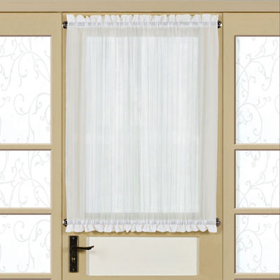 Harmony Semi-Sheer Micro-Stripe Tailored Door Panel With Tieback