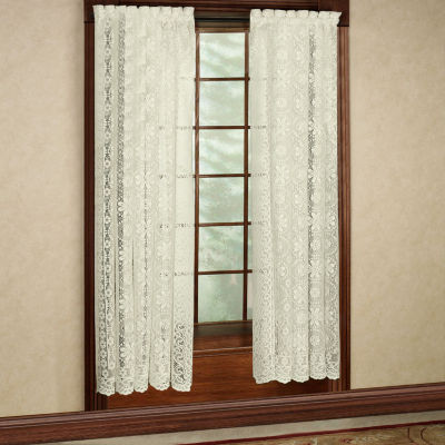 Lace Jacquard Window Curtain Single Panel Hopewell