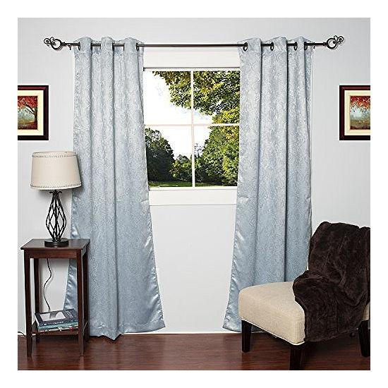 Lattice Energy Saving Blackout 38 x 84 Grommets Window Panel 2 Pack