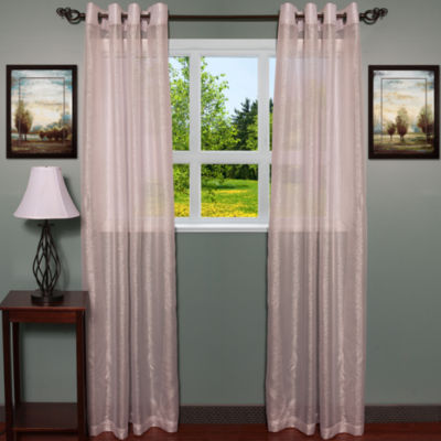 """Lynn Textured Shimmer Extra Wide 55"""" x 84"""" Grommet Curtain Panel Pair"""