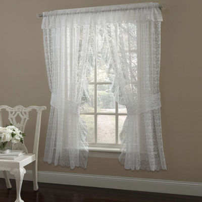 Priscilla Lace Window Curtain Panel Pair