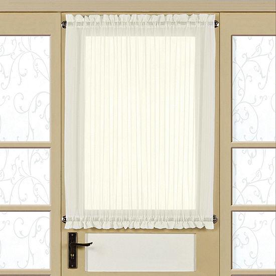 Reverie Semi-Sheer Tailored Single Door Panel With Tieback