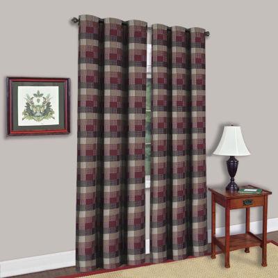 "Single Window Panel Classic Harvard Decorative Checkered 42"" x  84"""