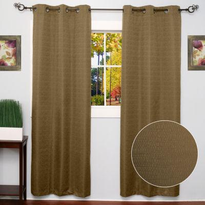 Textured Energy Saving Lined Grommet Room Darkening Window Panel 2 Pack