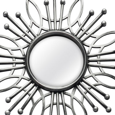 5 Piece Silver Burst Wall Mirror Set