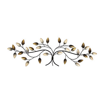 Stratton Home Decor Over The Door Blowing Leaves Wall Decor Metal Wall Art Color Multi Jcpenney