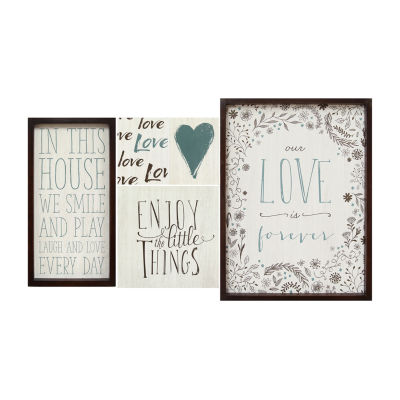 Set Of 5 Love Is Forever Wall Art 5-pc. Sentiments + Sayings Print