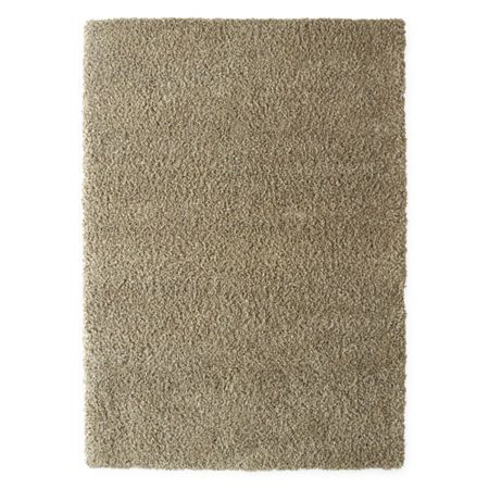 JCPenney Home Shag, One Size , Beige