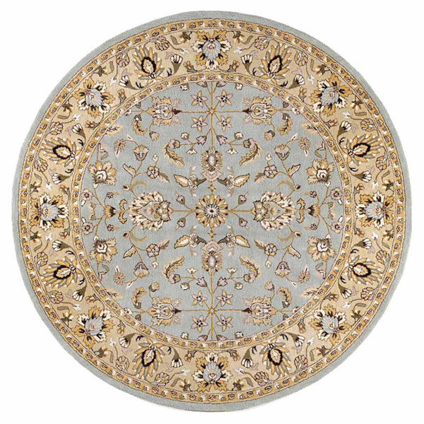 ST. CROIX TRADING Sea Foam Traditions Waterford Round Rug