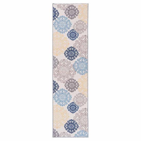 World Rug Gallery Modern Floral Swirl Design Non Skid Rectangular Rugs
