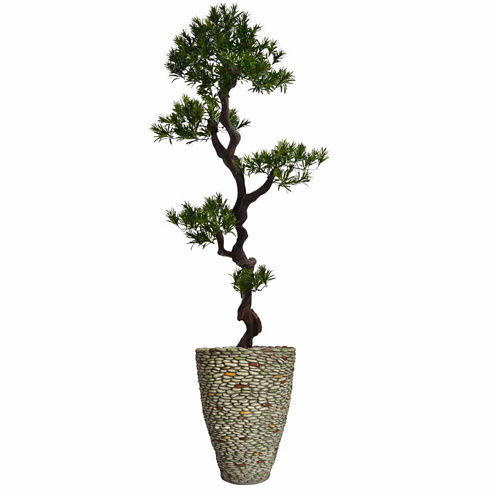 Laura Ashley 62 Inch Tall Yucca Tree In Faux-Pebble Planter