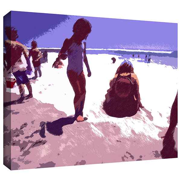 Brushstone Beach Day Gallery Wrapped Canvas Wall Art