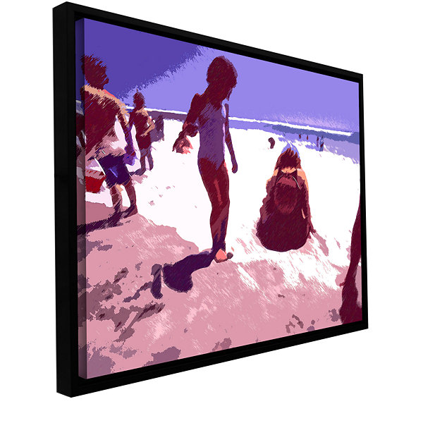 Brushstone Beach Day Gallery Wrapped Floater-Framed Canvas Wall Art