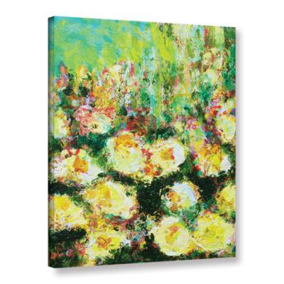 Brushstone Berkely Rose Garden Gallery Wrapped Canvas Wall Art