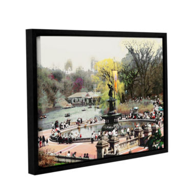 Brushstone Bethesda Fountain Gallery Wrapped Floater-Framed Canvas Wall Art