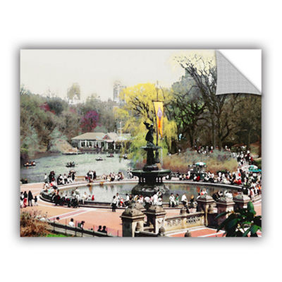 Brushstone Bethesda Fountain Removable Wall Decal