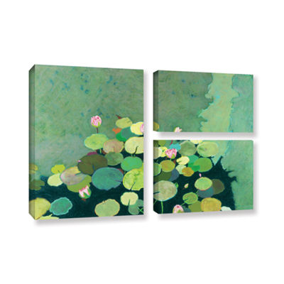 Brushstone Betty's Serenity Pond 3-pc. Flag Gallery Wrapped Canvas Wall Art