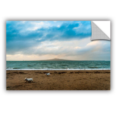 Brushstone Beach Dogs Removable Wall Decal