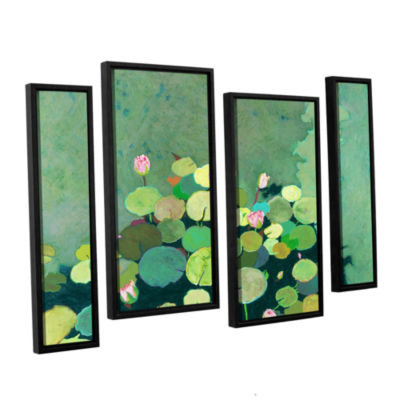 Brushstone Betty's Serenity Pond 4-pc. Floater Framed Staggered Canvas Wall Art