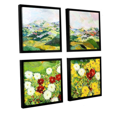 Brushstone Bewitching Twilight 4-pc. Square Floater Framed Canvas