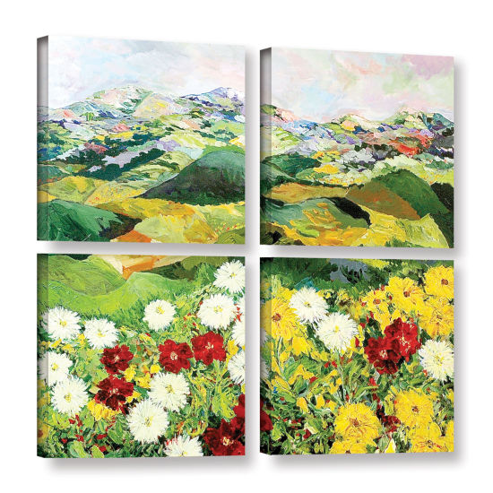 Brushstone Bewitching Twilight 4-pc. Square Gallery Wrapped Canvas