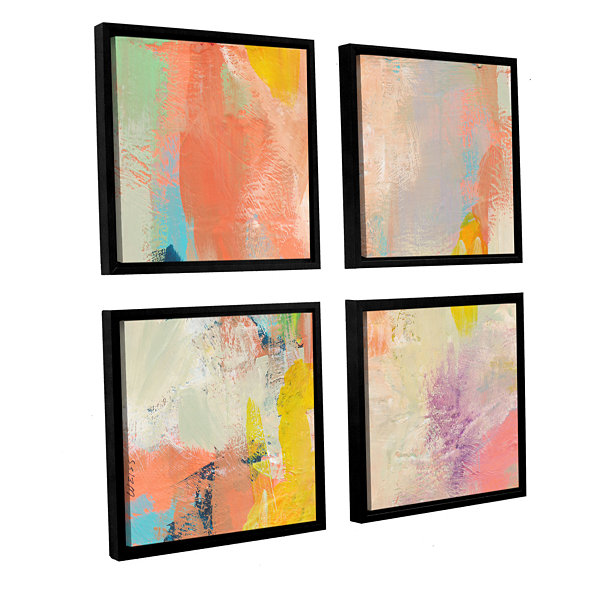 Brushstone Beyond the Line 1 4-pc. Square FloaterFramed Canvas