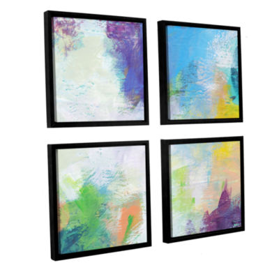 Brushstone Beyond the Line 2 4-pc. Square FloaterFramed Canvas