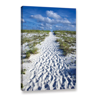 Brushstone Beach Path Gallery Wrapped Canvas WallArt