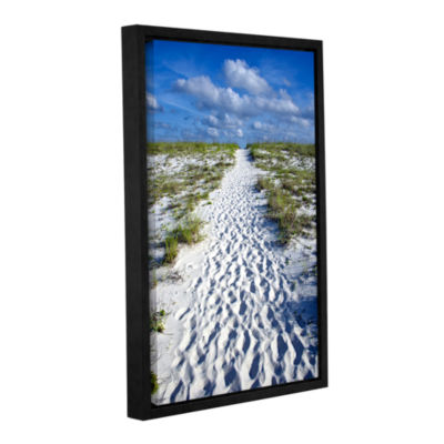 Brushstone Beach Path Gallery Wrapped Floater-Framed Canvas Wall Art